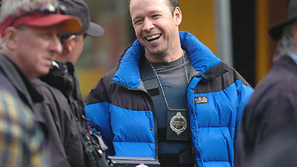 "Donnie Wahlberg plays the polce negotiator in Spike TV's ""The Kill Point,"" which was filmed in Market Square."