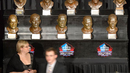 The busts of former Steelers now at the Hall of Fame were on display at the Steelers 75th Season Gala at the David L. Lawrence Convention Center.