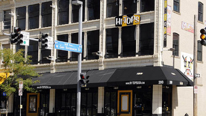 Hi-Tops Sports Bar at 200 Federal St. near PNC Park closed after business on Sunday.