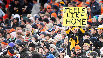 A Steelers fan feels right at home.