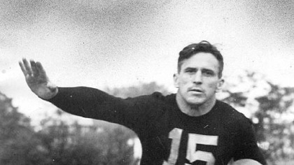 Johnny Blood McNally was a player-coach for the Pittsburgh Steelers, then known as the Pirates, from 1936-1939.