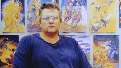 An Oct. 13, 2007, photo of convicted serial killer Keith Hunter Jesperson during an art show at Oregon State Penitentiary. Mr. Jesperson sent the photo to the Duquesne University students.