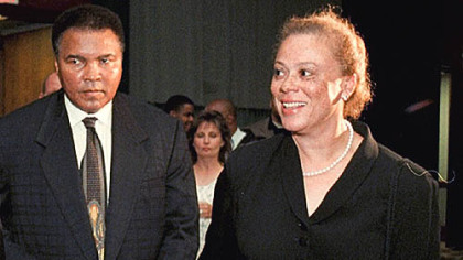 Lonnie Ali and her husband, Muhammad Ali.