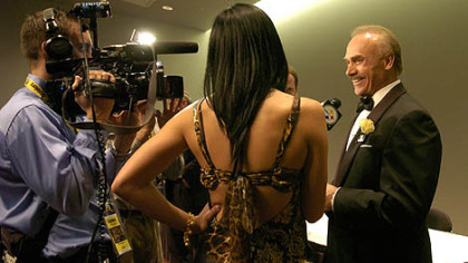 Former Steeler Rocky Bleier talks to the media at the Steelers 75th Season Gala at the David L. Lawrence Convention Center.