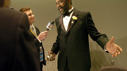 Former Steeler Joe Greene at the Steelers 75th Season Gala.