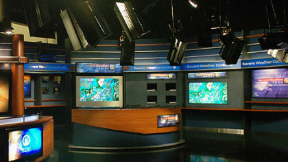 The weather center in the new WPXI news studio.