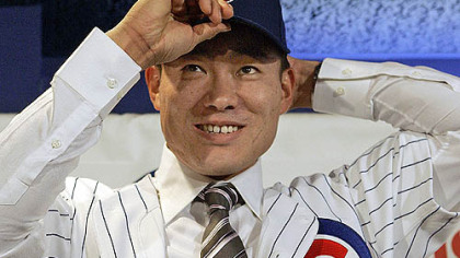 Japanese free-agent outfielder Kosuke Fukudome sent the Cubs a long way toward becoming the ninth team with a payroll of $120 million-plus.