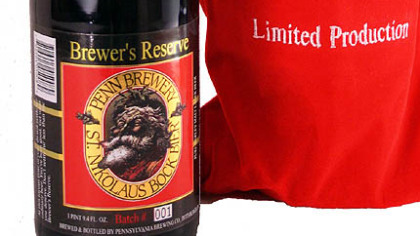 Penn Brewery's St. Nikolaus Bock Brewer's Reserve is 8 percent alcohol.
