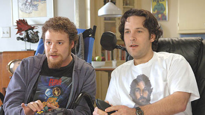 Paul Rudd, right, and Seth Rogen also were paired in &quot;The 40-Year-Old Virgin.&quot;