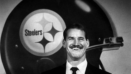 New Steelers coach Bill Cowher during a press conference at Three Rivers Stadium on Tuesday, Jan. 1, 1992.