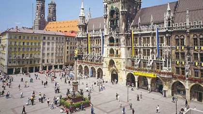Munich&#039;s Gothic city hall, facing Marienplatz, is &quot;only&quot; about 150 years old.