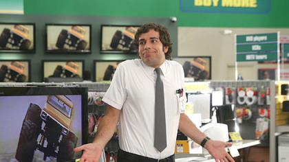 "Zachary Levi's workplace in ""Chuck"" is a big box computer store."