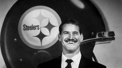 New Steelers coach Bill Cowher during a press conference at Three Rivers Stadium on Tuesday, January 21, 1991.