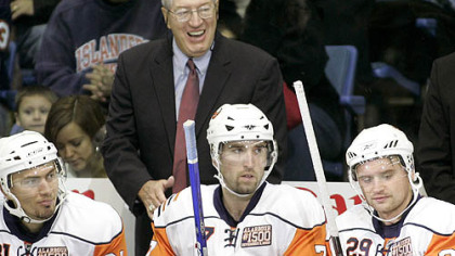 Hall of Famer Al Arbour was invited back to coach the Islanders last night to give him an even 1,500 games in his career.