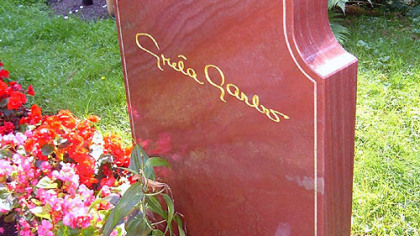Film icon Greta Garbo  is buried at Skogskyrkogarden, a huge cemetery outside Stock-holm, Sweden.